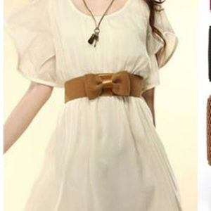 Accessories - Women Graceful Bowknot Elastic Lovely Belt With Bu